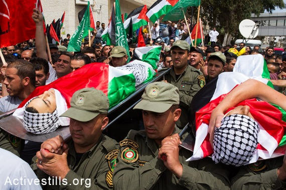 Funerals Are Held For Two Palestinians Killed During Nakba Day C